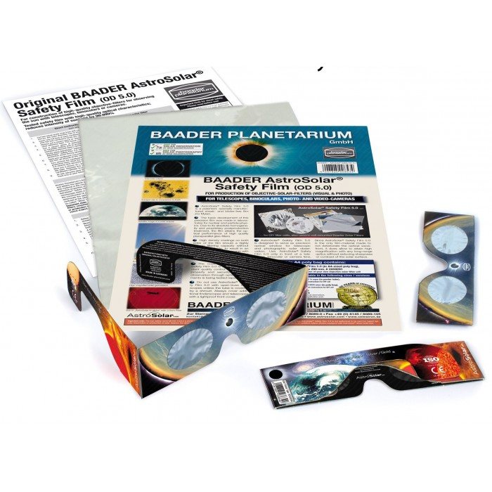 3pc Solar Viewer AstroSolar & AstroSolar Safety Film 20x29 cm