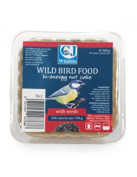 CJ BIrdfood Fat Nut Cake with Seeds 300g Square