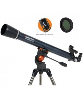 Celestron AstroMaster 70AZ Refractor with Smartphone Adaptor and Moon Filter