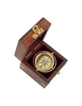 San Juan Gimbal compass in wooden gift-case