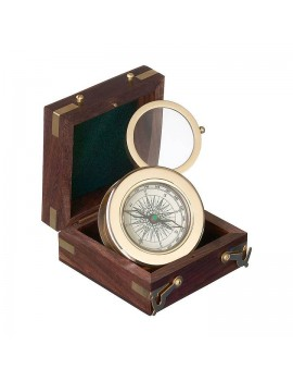 San Jose Elegant compass with magnifier in gift-case