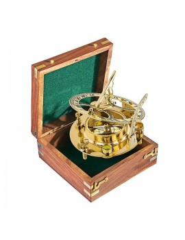 Panama Nostalgic sun-dial in wooden gift-case