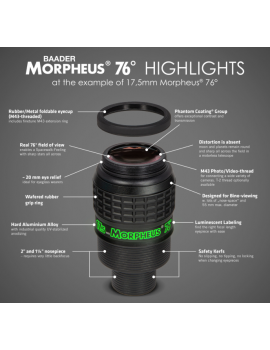 Baader Morpheus 6.5mm 76° Wide Field Eyepiece Eyepieces -