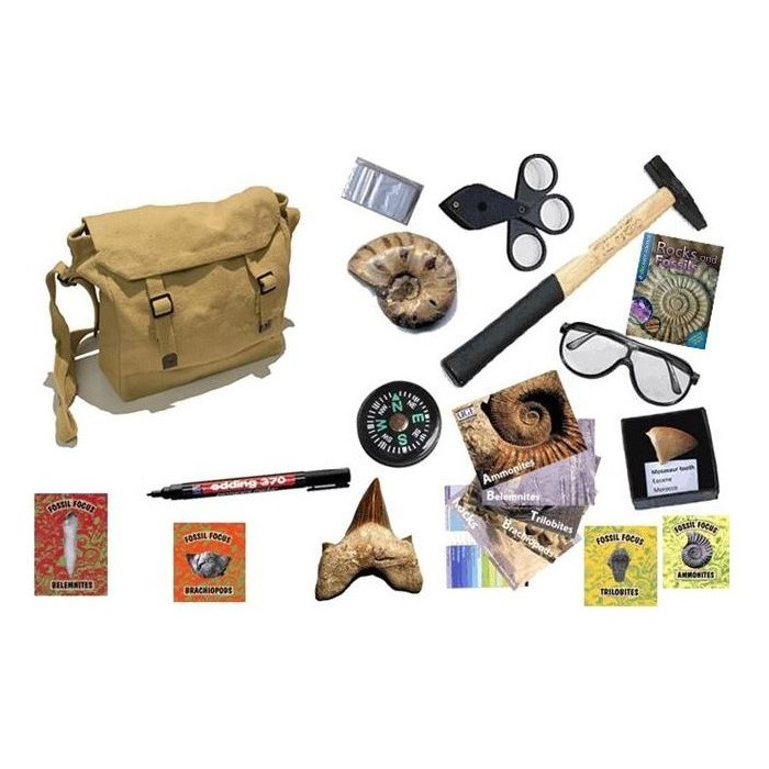 Omegon UKGE Children's Fossil Hunting Kit Home Grovers Optics
