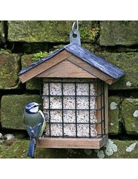 CJ Wildlife Burton Slate Peanut Cake Square Feeder