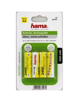 Hama NiMH Rechargeable Batteries 4x AA 2400 mAh 1.2v