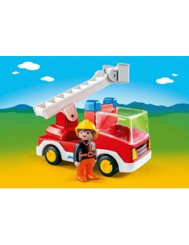 1.2.3 Playmobil Ladder Unit Fire Truck