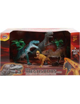 Dinosaur Set 6pc Action Figures