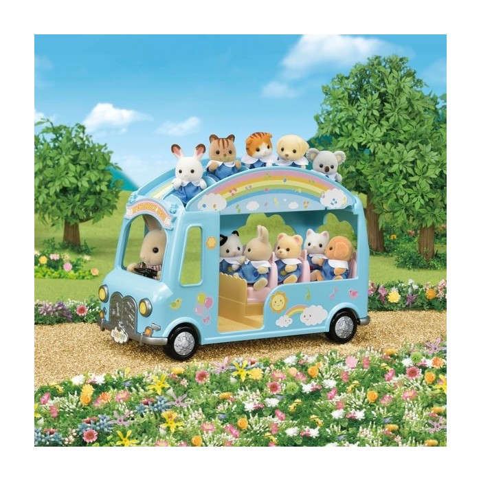 Sylvanian Families Sunshine Nursery Bus Action Figures