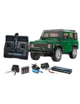 Tamiya 1/10 Land Rover Defender 90 With Carson RC Kit Radio