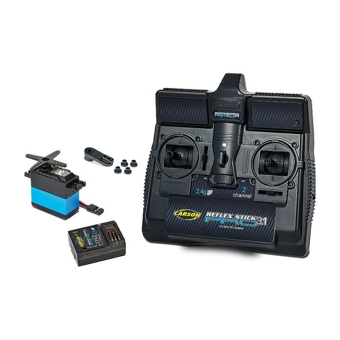 Carson RC Reflex Stick Pro 3.1 2.4G 2 Channel Kit Radio Control