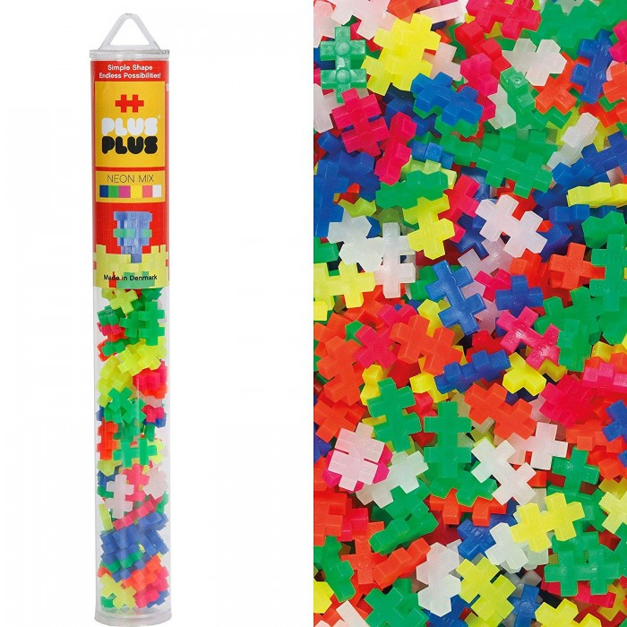 Plus-Plus Mixed Neon 100pc Set in Tube Construction