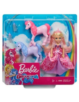 Barbie Chelsea Princess & Baby Unicorns Dolls