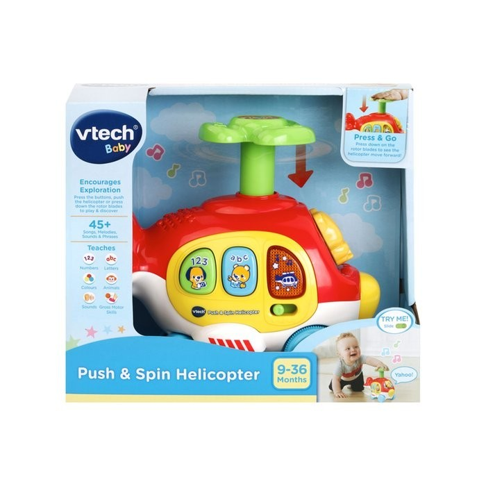 Vtech Push & Spin Helicopter Pre-school