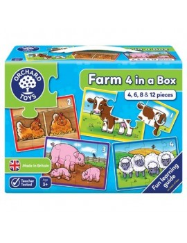 Orchard Farm Four in a Box Jigsaw Games & Jigsaws