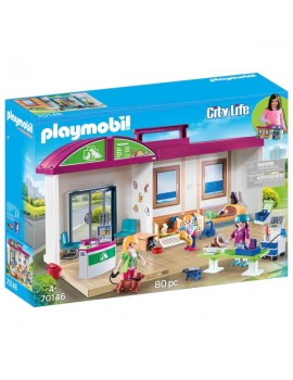 Playmobil Take Along Vet Clinic Home