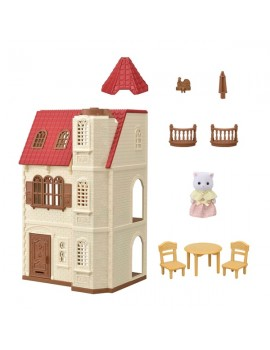 Sylvanian Families Red Roof Tower Home Gift Set Sylvanian