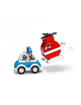Lego Duplo Fire Helicopter & Police Car Lego