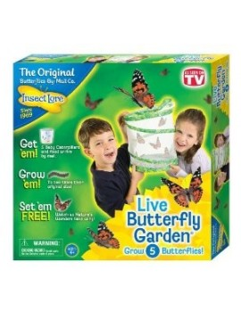 Butterfly Garden with 5 LIVE Caterpillars