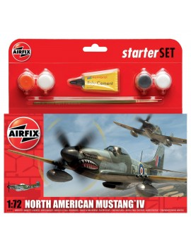 Airfix North American Mustang IV Starter Set 1:72 Gift Sets